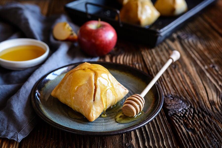 Dumplings de manzana