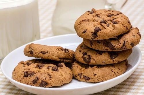 galletas mantequilla y pepitas chocolate