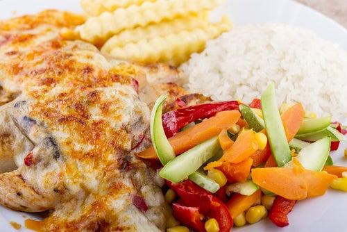 Pollo a los cuatro quesos