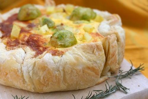 Torta rústica de patata y cebolla