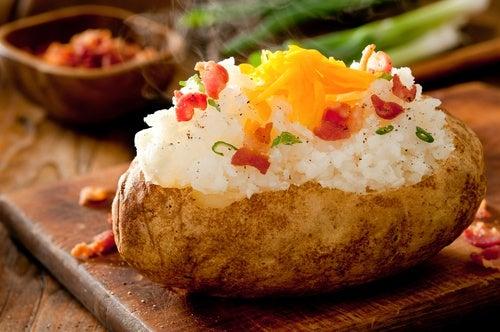volcan-de-patatas-con-arroz