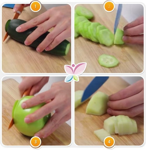 Zumo verde de manzana, pepino y jengibre para perder peso 2