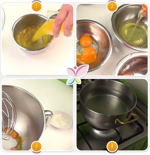 Espuma de naranja - Paso 1 al 4