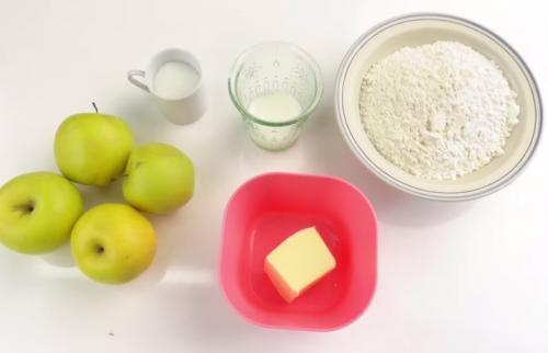 Ingredientes de manzanas en camisa