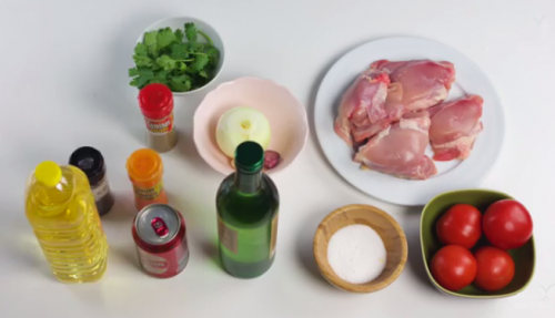 Ingredientes de pollo borracho