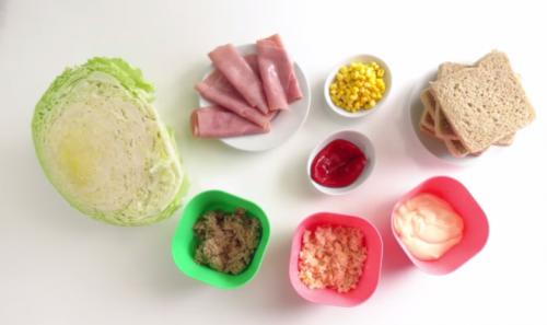 Ingredientes de sandwiches animados