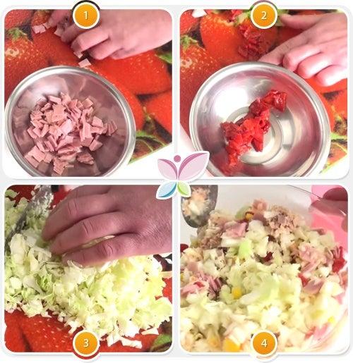 Receta de sandwiches animados - Paso 1 al 4