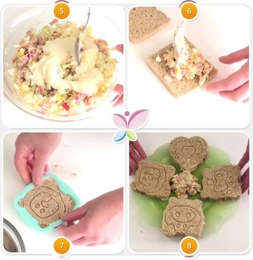 Receta de sandwiches animados - Paso 5 al 8