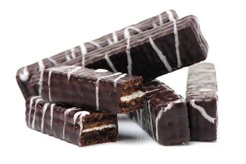 Barritas de chocolate blanco y Oreo