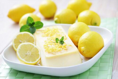 Bavarois de coco y limón