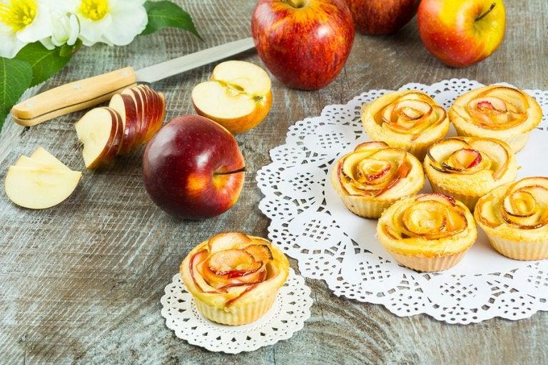 Cupcakes de tarta de manzana