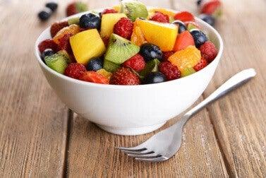 Ensalada de frutas antiinflamatorias
