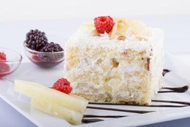 Fudge de chocolate blanco y coco