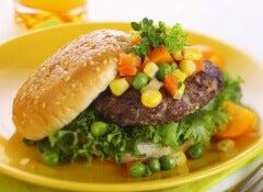 hamburguesa frijoles