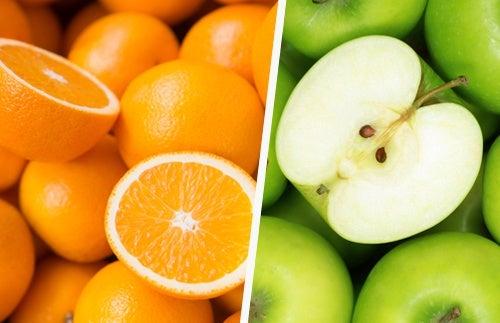 Naranjas y manzana