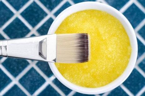 Mascarilla de azúcar y limón