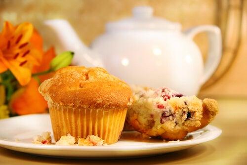 Muffins de naranja y arándanos