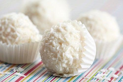 trufas chocolate blanco coco