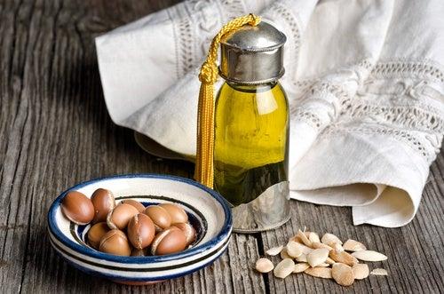 Aceite de argán para la caspa seca