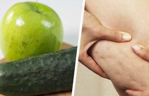 Jugo de remolacha, pepino y manzana para tratar la celulitis