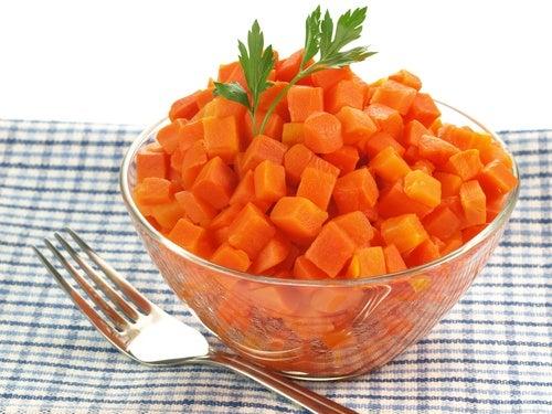 Zanahorias-hervidas