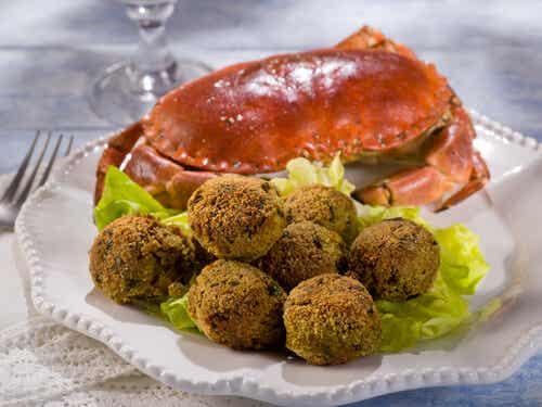 Albóndigas de cangrejo
