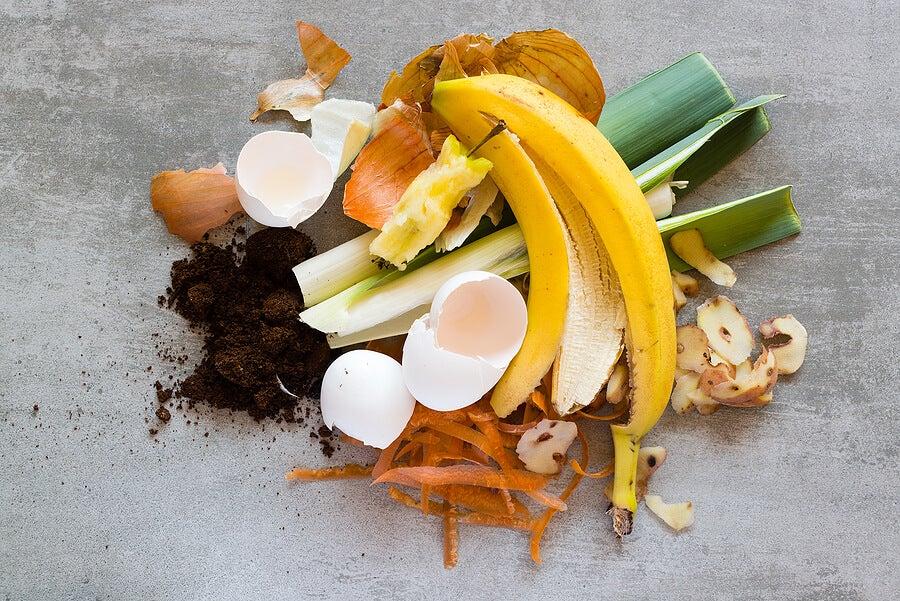 Restos de alimentos para trash cooking.