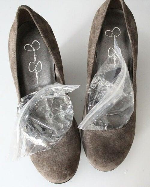 bolsas en zapatos