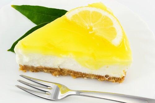 Mousse de cheesecake de limón