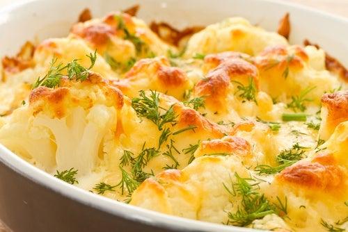 cocinar coliflor al horno dieta