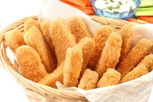 Palitos de pollo con queso