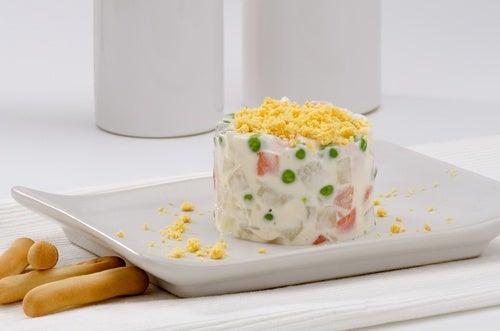 Pastel de piña salado