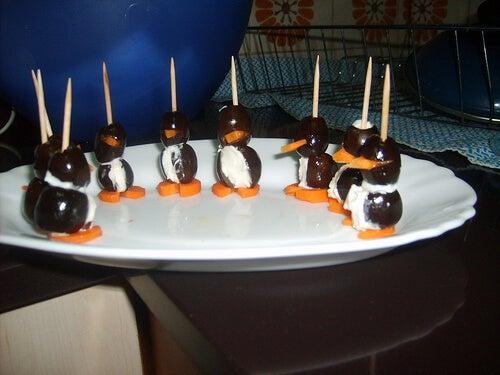 Pingüinos de aceituna y otras recetas originales