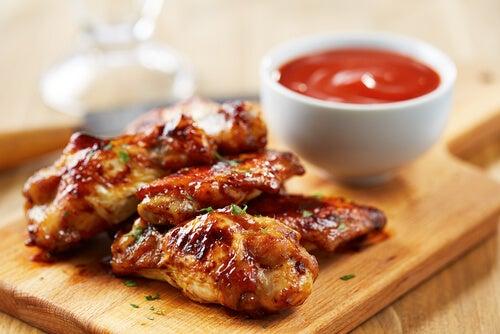 Receta de alitas en salsa BBQ