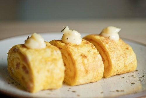 Rollo de tortilla francesa al horno