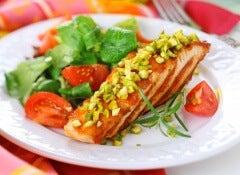 salmon al ajillo