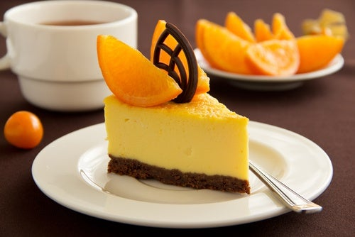 tarta de queso naranja chocolate