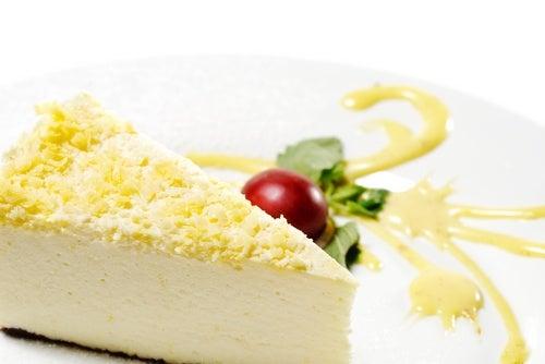 Tarta de queso y jengibre