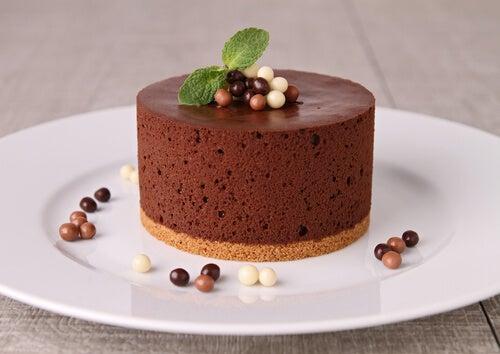 Dulces sin azúcares: mousse de chocolate