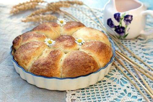 Torta flor de brioche