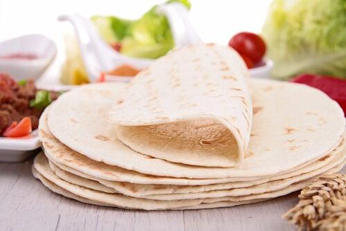 La piadina es similar a una tortilla