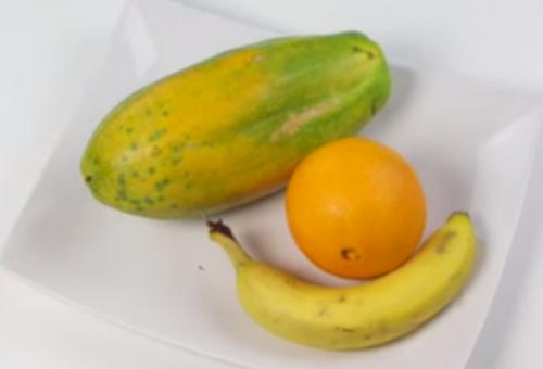 Resultado de imagen para Jugo para combatir el colesterol a base de papaya, naranja y plátano