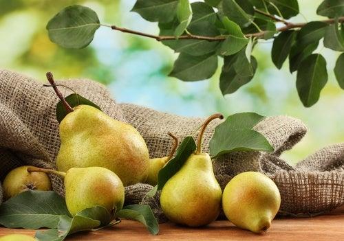 La pera reduce la hinchazón