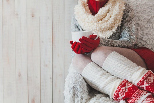Lleva-medias piernas frías