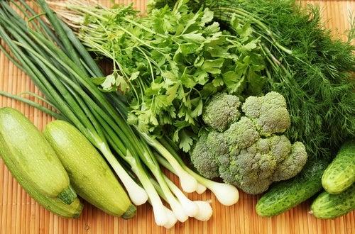 Verduras crucíferas.