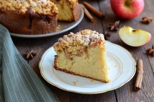 Apfelkuchen o torta alemana de manzana