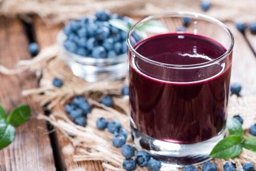 arándanos ricos en flavonoides