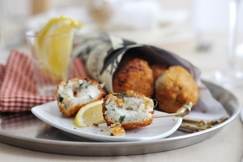 arancini with mozzarella