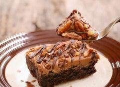 bizcocho de almendras y chocolate