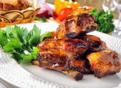 cerdo glaseado con miel